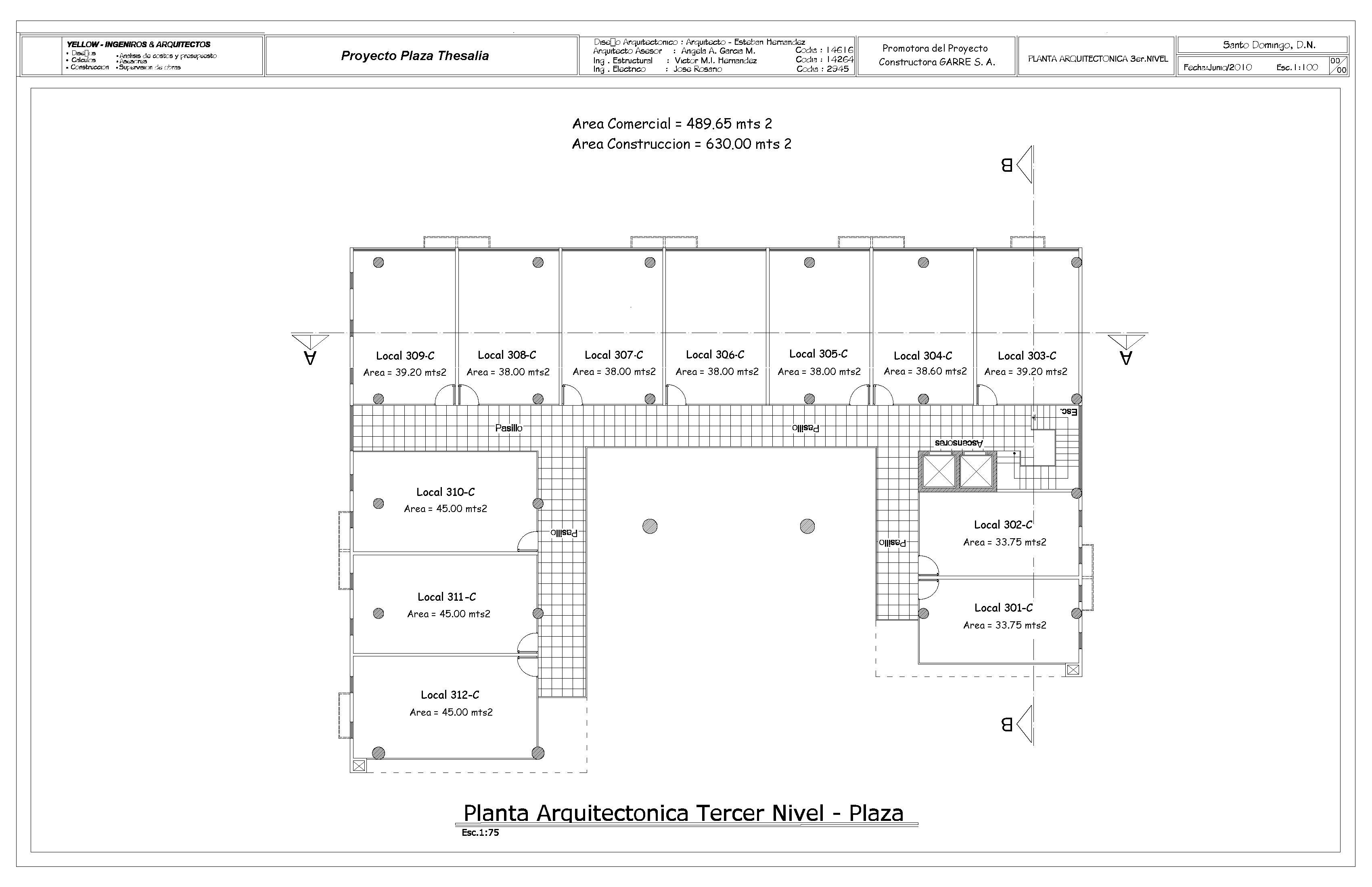 Plaza thesalia centro comercial for Planos arquitectonicos de un oxxo